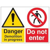 Danger Demolition/Do Not Enter - Large Landscape