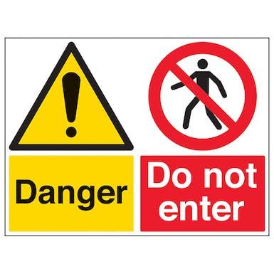 Danger/Do Not Enter - Large Landscape