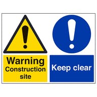 Construction Site/Keep Clear - Large Landscape