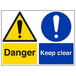 Danger/Keep Clear - Large Landscape
