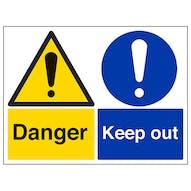 Danger/Keep Out - Large Landscape