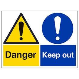 Eco-Friendly Danger/Keep Out - Large Landscape