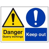 Danger Quarry Workings / Keep Out - Large Landscape