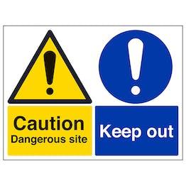 Caution Dangerous Site / Keep Out - Large Landscape