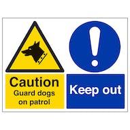 Caution Guard Dogs On Patrol - Landscape