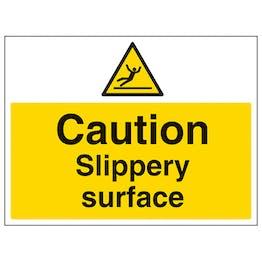 Caution Slippery Surface - Large Landscape