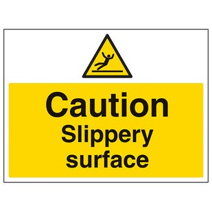 Caution Slippery Surface - Large Landscape