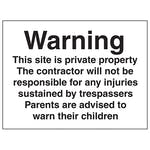 Notice This Site Is Private Property - Large Landscape