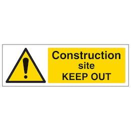 Construction Site Keep Out - Landscape
