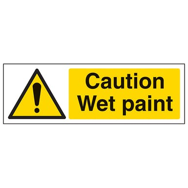 Caution Wet Paint - Landscape