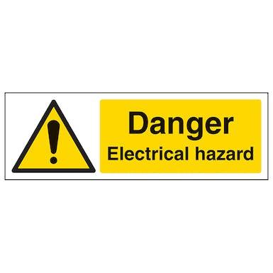 Danger Electrical Hazard - Landscape