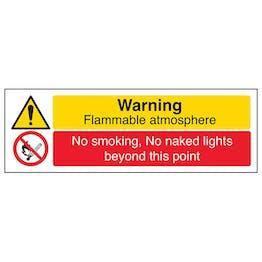 Warning Flammable Atmosphere/No Smoking No Naked Lights