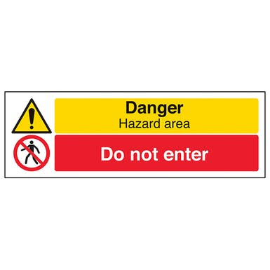 Danger Hazard Area/Do Not Enter - Landscape