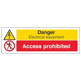 Danger Electrical Equipment / Access Prohibited - Landscape