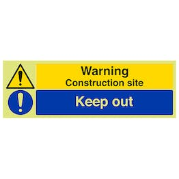GITD Warning Construction Site Keep Out - Landscape