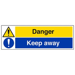 Danger / Keep Away - Landscape