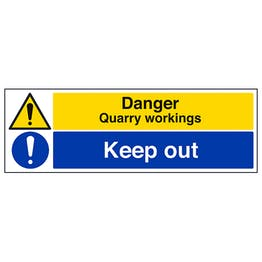 Danger Quarry Workings / Keep Out - Landscape