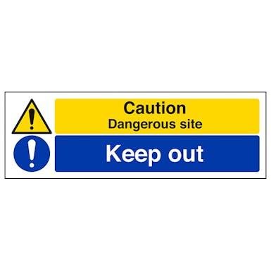 Caution Dangerous Site/Keep Out
