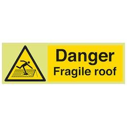 GITD Danger Fragile Roof - Landscape
