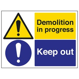 Demolition In Progress / Keep Out