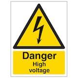 Danger High Voltage - Portrait