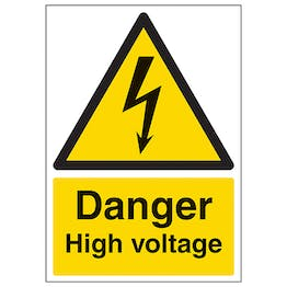 Danger High Voltage - A4