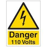 Danger 110 Volts - Portrait