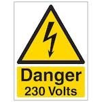 Danger 230 Volts - Portrait