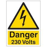 Danger 230 Volts - Portrait
