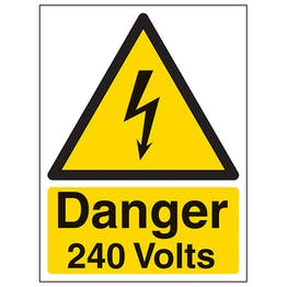 Danger 240 Volts - Portrait