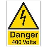 Danger 400 Volts - Portrait