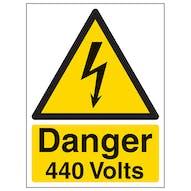 Danger 440 Volts - Portrait