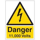 Danger 11,000 Volts - Portrait