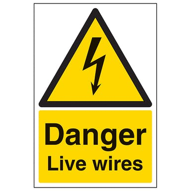 Danger Live Wires - Portrait