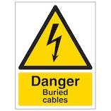 Danger Buried Cables - Portrait