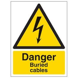 Danger Buried Cables - Portrait