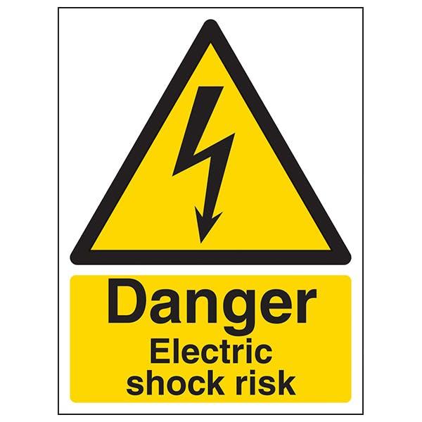 Danger Electric Shock Risk - Portrait
