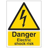 Danger Electric Shock Risk - Portrait