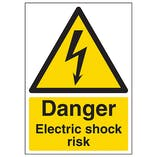 Danger Electric Shock Risk - A4