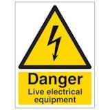 Danger Live Electrical Equipment - Portrait