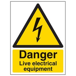 Eco-Friendly Danger Live Electrical Equipment