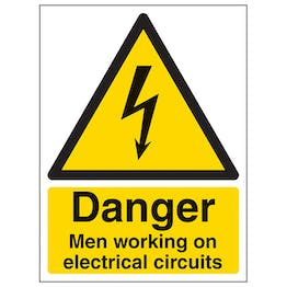 Men Working On Electrical Circuits - Portrait