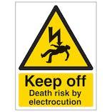 Keep Off Death Risk By Electrocution - Portrait