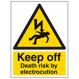 Keep Off Death Risk By Electrocution - Portrait