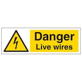 Danger Live Wires - Landscape
