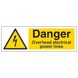 Danger Overhead Power Lines - Landscape