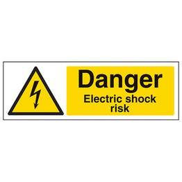 Danger Electric Shock Risk - Landscape