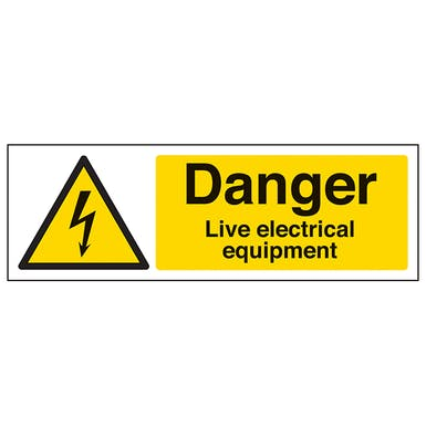 Danger Live Electrical Equipment - Landscape