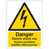 English/Polish - Danger Electric Shock Risk