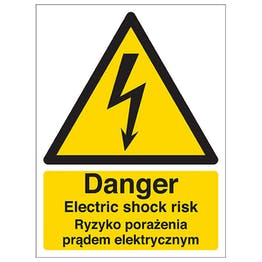 English/Polish - Danger Electric Shock Risk